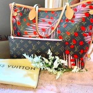 Louis Vuitton NEVERF.MM.MNG JUNGL.S.PO Brown/ PINK